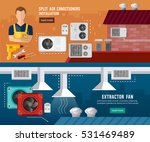 installation of air... | Shutterstock .eps vector #531469489