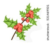 holli berry   christmas symbol. ... | Shutterstock .eps vector #531469501