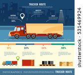 cargo delivery infographic ... | Shutterstock .eps vector #531469924