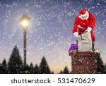 santa claus opening gift sack... | Shutterstock . vector #531470629
