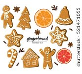 Set Of Different Gingerbreads ...