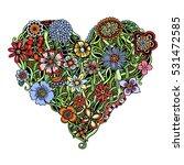 bright flower heart ...