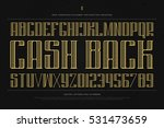 vintage money alphabet letters... | Shutterstock .eps vector #531473659