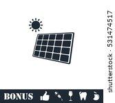 solar panel icon flat. vector... | Shutterstock .eps vector #531474517