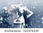 bearded santa claus man with... | Shutterstock . vector #531476239