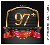 97 years golden anniversary... | Shutterstock .eps vector #531476851