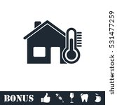 house temperature icon flat....   Shutterstock .eps vector #531477259