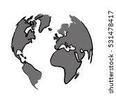 earth world planet icon vector... | Shutterstock .eps vector #531478417