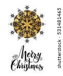 merry christmas snowflake.... | Shutterstock .eps vector #531481465