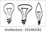 lamp sketch outline vector on... | Shutterstock .eps vector #531483181