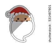 santa claus xmas cartoon icon... | Shutterstock .eps vector #531487801