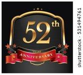52 years golden anniversary... | Shutterstock .eps vector #531494761