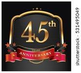 45 years golden anniversary... | Shutterstock .eps vector #531495049