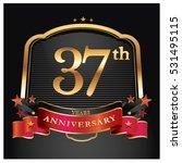 37 years golden anniversary... | Shutterstock .eps vector #531495115