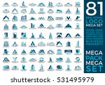 mega set and big group  real... | Shutterstock .eps vector #531495979