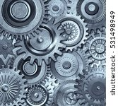 3d metallic gears background | Shutterstock . vector #531498949