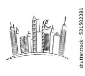 city urban buildings icon... | Shutterstock .eps vector #531502381