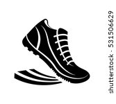 shoes running pictogram icon... | Shutterstock .eps vector #531506629
