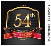 54 years golden anniversary... | Shutterstock .eps vector #531509041