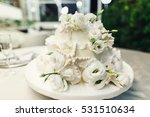 stylish wedding cake decorated... | Shutterstock . vector #531510634