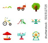 play garden set icons in... | Shutterstock .eps vector #531512725