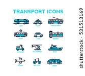 set of vector transport icons. | Shutterstock .eps vector #531513169