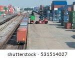 cargo train platform with... | Shutterstock . vector #531514027