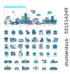 set vector line icons in flat... | Shutterstock .eps vector #531514249