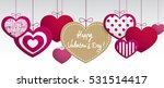 paper hanging hearts isolated... | Shutterstock .eps vector #531514417