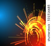 techno geometric vector circle... | Shutterstock .eps vector #531516685