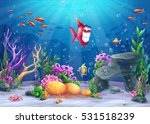 undersea with fish. marine life ... | Shutterstock .eps vector #531518239