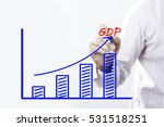 """""""gdp"""" text with hand of young...   Shutterstock . vector #531518251"""