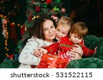 beautiful mommy and her cute... | Shutterstock . vector #531522115