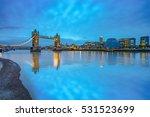 Panorama Of Tower Bridge With...