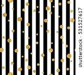gold polka dot on lines... | Shutterstock . vector #531527617