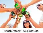 cheers  happy friends... | Shutterstock . vector #531536035