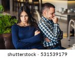 couple at cafe during lunch.... | Shutterstock . vector #531539179