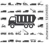 dump truck icon. transport... | Shutterstock .eps vector #531545035
