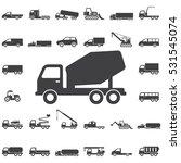 concrete mixer icon. transport... | Shutterstock .eps vector #531545074