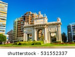 puerta del mar  a gate in... | Shutterstock . vector #531552337