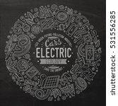 chalkboard vector hand drawn... | Shutterstock .eps vector #531556285