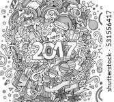 cartoon cute doodles hand drawn ... | Shutterstock .eps vector #531556417