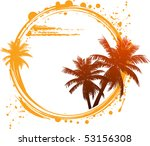 tropical design with palm trees ... | Shutterstock .eps vector #53156308