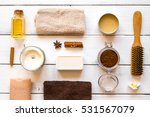 spa treatments on wooden... | Shutterstock . vector #531567079