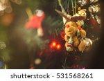 little christmas felt bear with ... | Shutterstock . vector #531568261