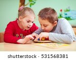 kids with special needs develop ... | Shutterstock . vector #531568381