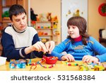 kids with special needs develop ... | Shutterstock . vector #531568384