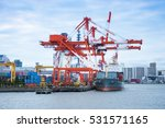 commercial delivery cargo... | Shutterstock . vector #531571165