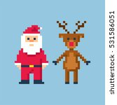christmas in style of eight bit ... | Shutterstock .eps vector #531586051