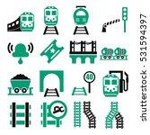 train  railway  underground... | Shutterstock .eps vector #531594397
